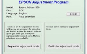 Epson Artisan 1430 Adjustment Program Download