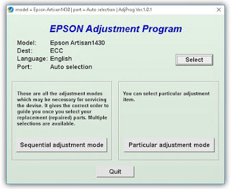 Adjustmen Program Epson 1430